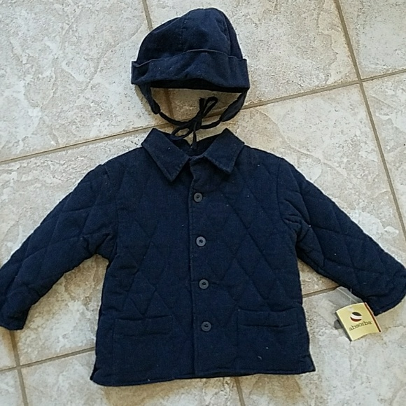 1dbe102bde0ae Absorba baby coat and hat set